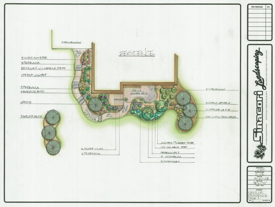 Landscape design photos for Residential landscape design plan