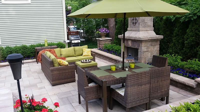 Hardscape Patio and Fireplace Design and Installation